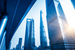 Quadro In the picture is jin mao tower,shanghai tower,shanghai world financial center,shanghai,china.