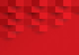 Red geometric background. - 170920686