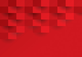 Red geometric background.