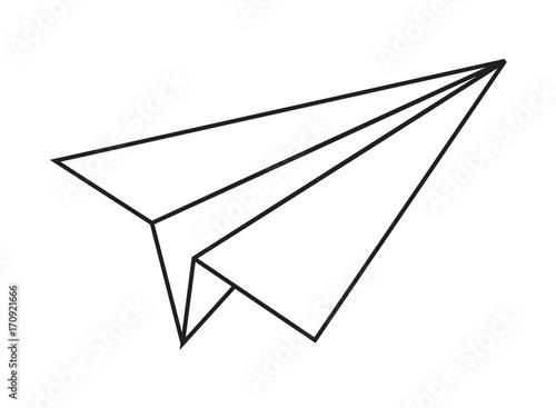 Origami Paper Plane Vector Shape