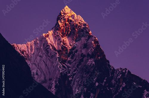 Foto op Canvas Violet Cordillera