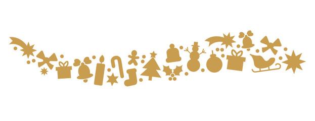 Dekorativer goldener Weihnachtsschmuck