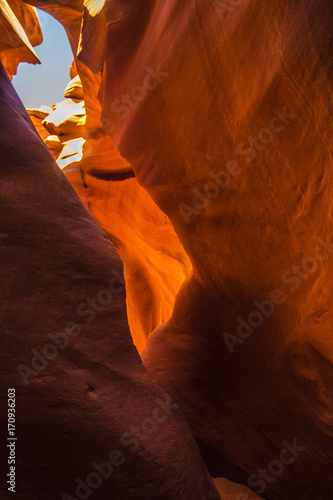 Fotobehang Rood paars Antelope canyon, Arizona