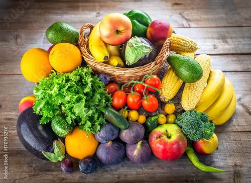 Poster Fresh fruits and vegetables
