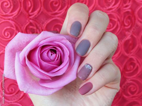 Aluminium Manicure manicure dusty rose