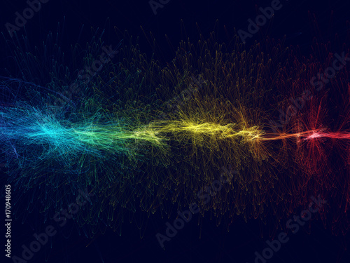 Happ colored abstract background with spectrum