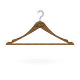 Wood clothes hanger isolated on white background. Vector illustration - 170952078