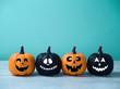 Halloween glitter pumpkin jack o lantern decor