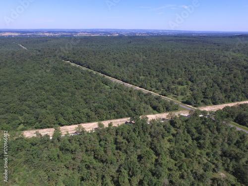 Fotobehang Khaki Forêt de la Braconne Charente France vue Aerienne