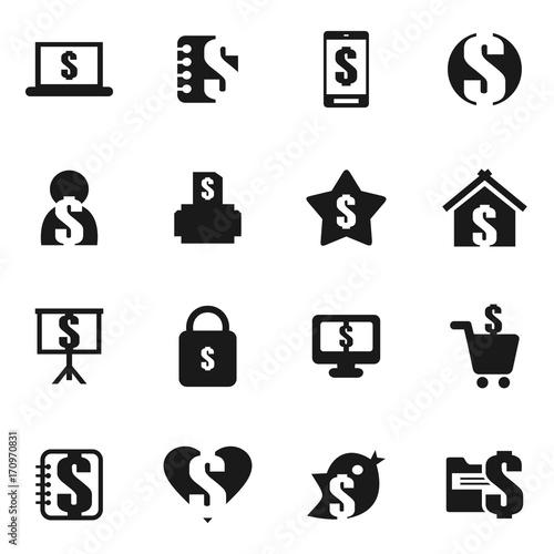 Fotobehang Abstractie Money an icon8
