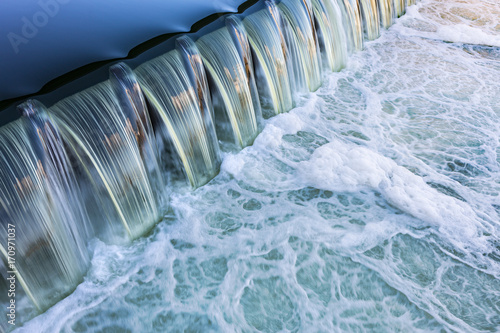 Leinwanddruck Bild fließendes Wasser Fluss
