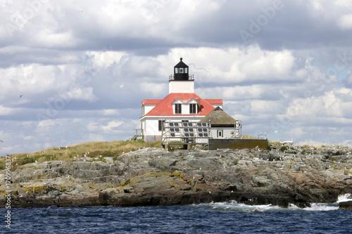 Fotobehang Vuurtoren Lighthouse in Maine, USA