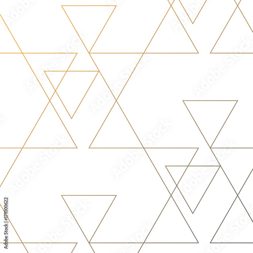 linear triangle vector pattern with big and small triangle connected each.graphic clean design for fabric, event, wallpaper etc. pattern is on swatches panel. - 171000622