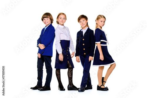 beautiful school children