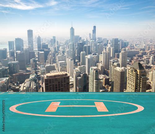 Fotobehang Chicago Chicago aerial