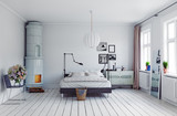 modern bedroom - 171006489