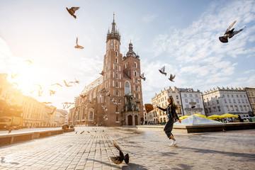Kraków Rynek i gołębie