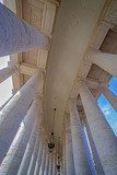 Corridor with pillars in architectonic view point, on Vatican city - 171023023