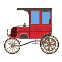 Carriage Horse  Cinderella Illustration Princess Silhouette Design Vintage  Fairstyle Coach Retro Sticker