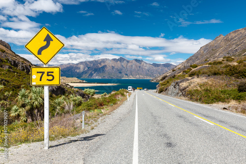 Road to Lake Hawea, New Zealand Poster