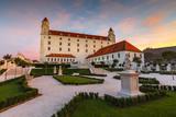 Reconstructed historical baroque garden in Bratislava castle complex, Slovakia.