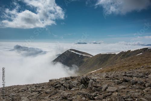Aluminium Blauwe jeans Fairfield horseshoe, cloud inversion, Cumbria