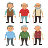 Cute grandparents cartoon icon vector illustration graphic design - 171049863