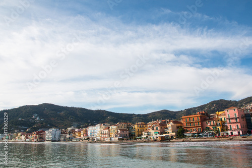 Foto op Canvas Liguria Tyrrhenian coast in a beautiful autumn day