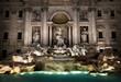 Quadro Fountain di Trevi at night