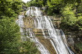 Waterfalls of the Herisson in the French Jura