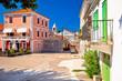 Ancient village of Sukosan near Zadar stone street and square view