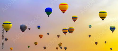 hot-air balloons Sunrise Adventure background travel