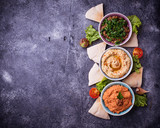 Selection of Middle Eastern or Arabic appetizers - 171088096