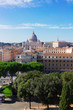 cityscape of Rome with St. Peter's cathedral, Italy