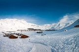 Winter in Tignes. Tignes is a village and ski resort in the French Alps. - 171109029