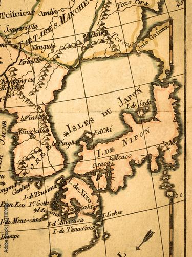 Fotobehang Seoel 古地図 日本