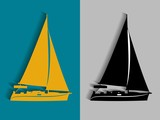 illustration of yacht. vector drawing - 171114235