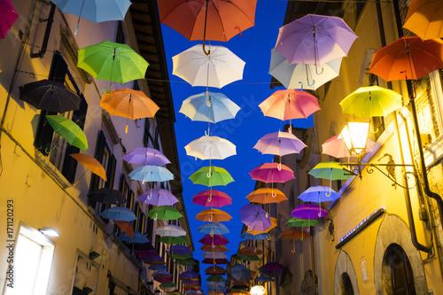 Sticker Umbrellas of different colors