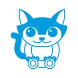 Cat animal cartoon icon vector illustration graphic design - 171120882