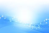Fototapety 音符とブルーのウェーブ 抽象的な背景
