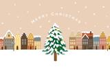 Fototapety クリスマス 町並み