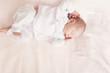 top view of sleeping newborn baby