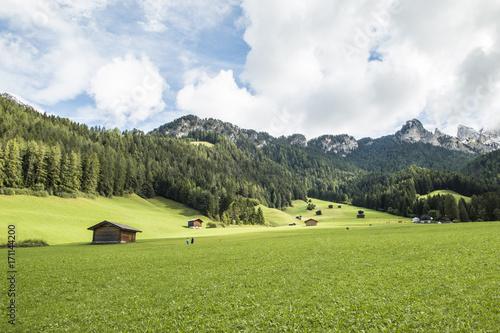 Fotobehang Pistache Dolomites landscape