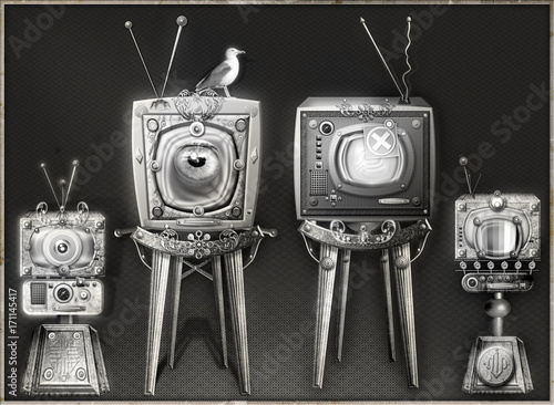 Aluminium Imagination The big brother-steampunk and strange television