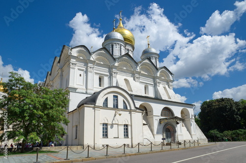Fotobehang Moskou Archangel Cathedral in the Moscow Kremlin, Russia