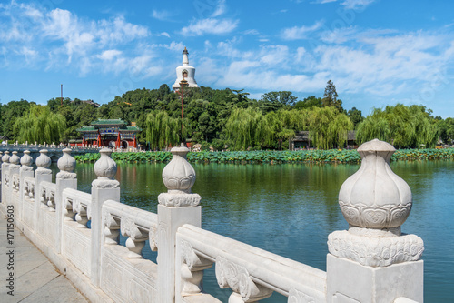 Papiers peints Pekin Beihai park scenery in summer in Beijing,China.