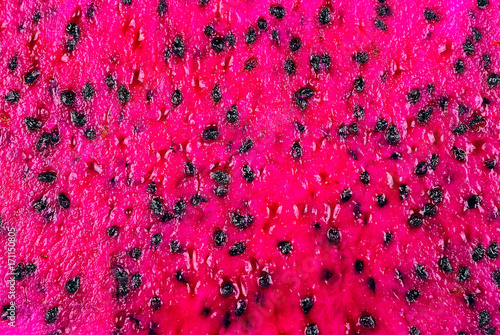 Fresh sliced red dragon fruit close up
