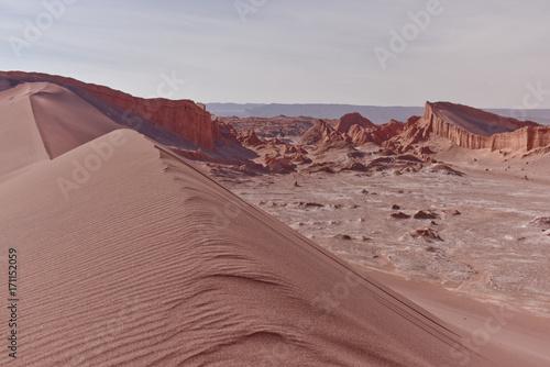 Fotobehang Cappuccino Valle De La Luna - Moon Valley, Atacama, Chile