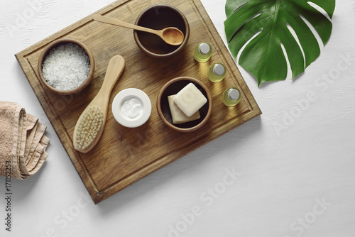 Fotobehang Spa Spa background with a space for a text