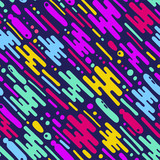 seamless pattern with colorful abstract ornemrnt
